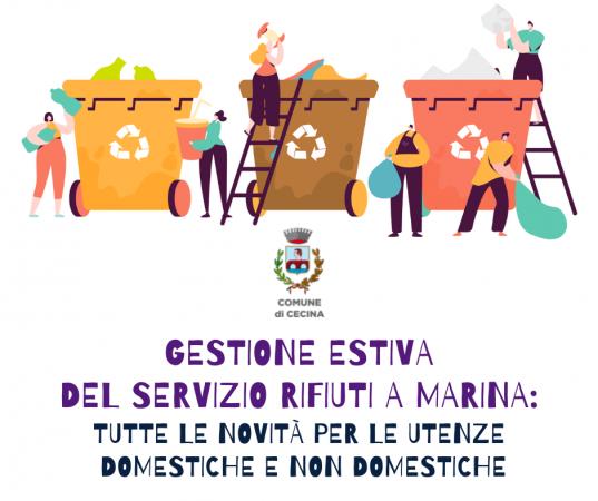 Gestione estiva del servizio rifiuti a Marina:   tutte le novità per le utenze domestiche e non domestiche