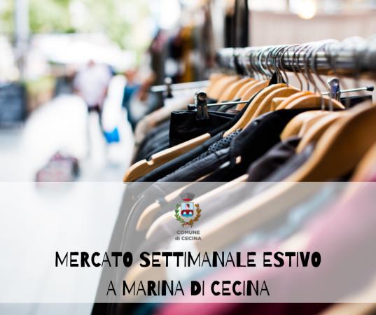 Mercato settimanale estivo a Marina