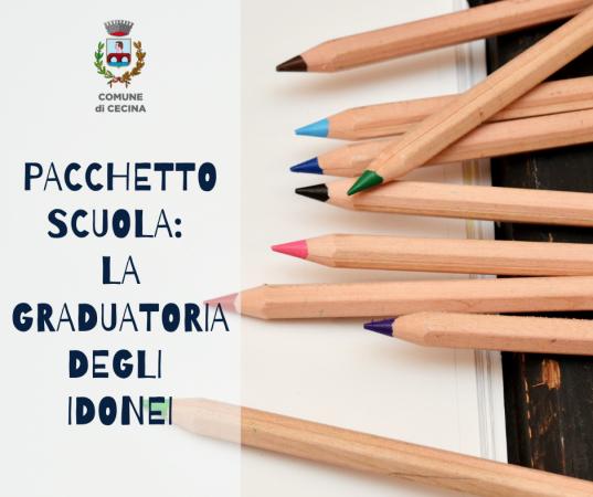 Pacchetto Scuola: la graduatoria degli idonei
