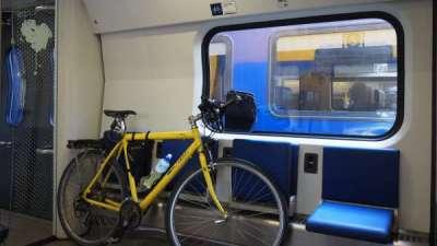 In bici col treno
