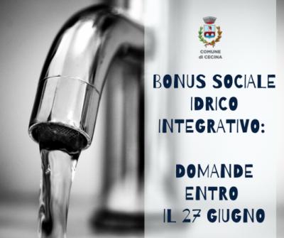 Bonus sociale idrico integrativo: domande entro il 27 giugno