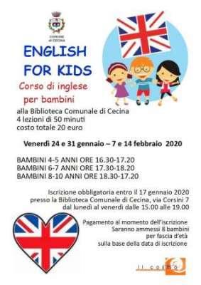 corso inglese per bambini