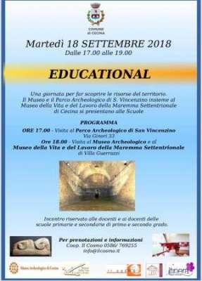 Locandina Educational 18 agosto