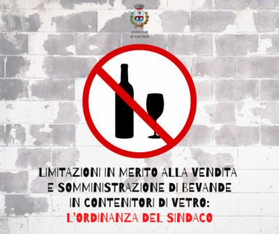 Limitazioni in merito alla vendita e somministrazione di bevande in contenitori di vetro