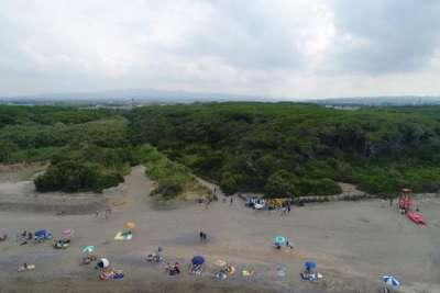 Foto scattata dal drone anti abusivismo
