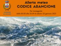 Allerta meteo codice arancione