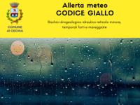 Allerta meteo codice giallo per pioggia, temporali e mareggiate