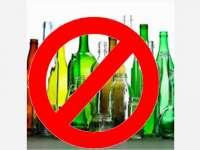 Divieto di vendita bottiglie di vetro
