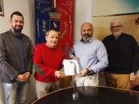 Da sx: Alessandro Schiavetti, Roberto Berrugi, il sindaco Samuele Lippi, il vicesindaco Giovanni Salvini