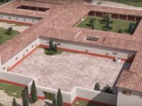 Ricostruzione 3 D Villa Romana di San Vincenzino