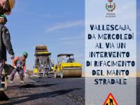 Vallescaja, da mercoledì al via un intervento di rifacimento del manto stradale